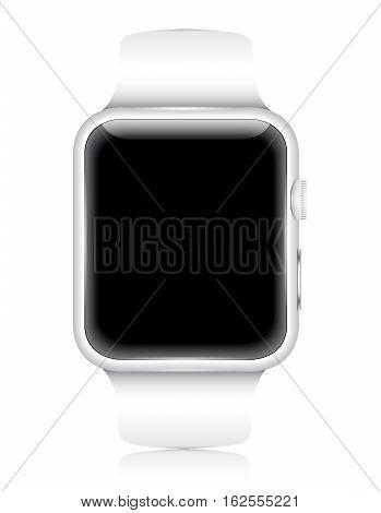 Vector Smartwatch Wearable Gadget. Realistic illustration graphics.
