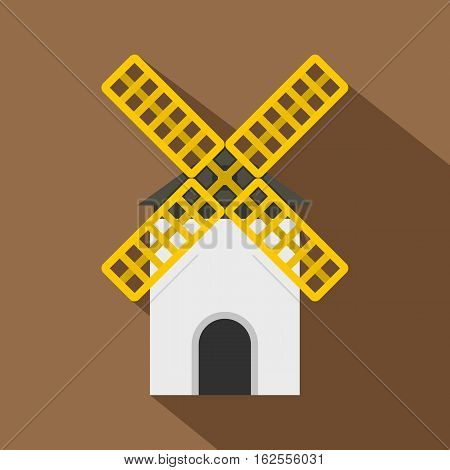 Mill icon. Flat illustration of mill vector icon for web