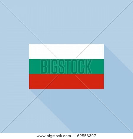 Bulgaria flag , flat design vector with official proportion