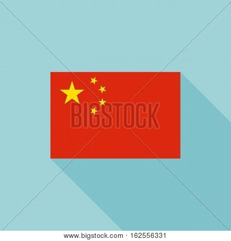 China flag , flat design vector with official proportion