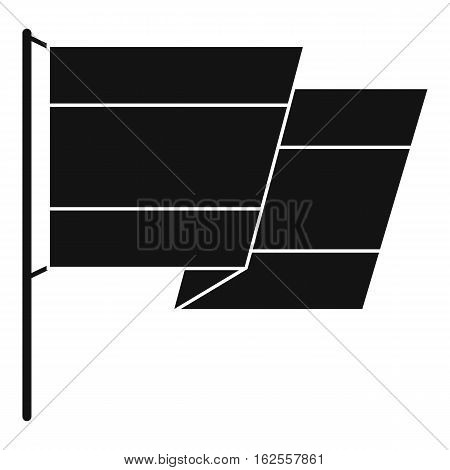 Flag of Spain icon. Simple illustration of flag of Spain vector icon for web