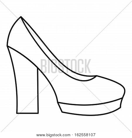 High heel shoes icon. Outline illustration of high heel shoes vector icon for web