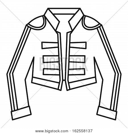 Costume of toreador icon. Outline illustration of costume of toreador vector icon for web