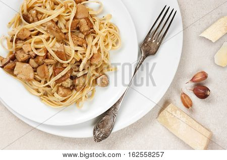 Cooked Pasta With Porcini