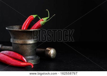 Red Hot Peppers In The Old Pounder