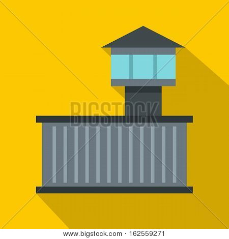 Prison tower icon. Flat illustration of prison tower vector icon for web