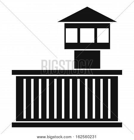 Prison tower icon. Simple illustration of prison tower vector icon for web