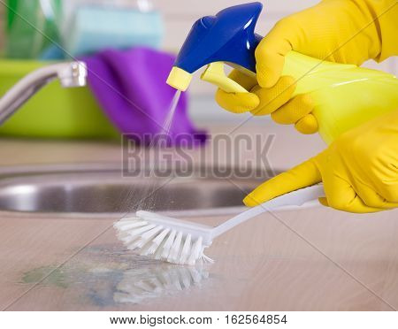 Kitchen Cleaning Concept