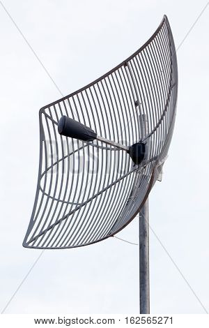 Satellite antenna. Receiver, broadcast television. Telecommunication equipment