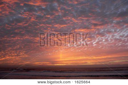 Sunset Sky Raking Light