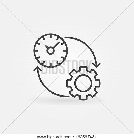 Productivity line icon. Vector time management and productivity concept symbol