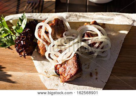 Pieces Of Shish Kebab