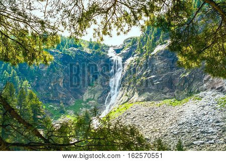 highest waterfall in Rila Mountains, Bulgaria - Skakavitsa