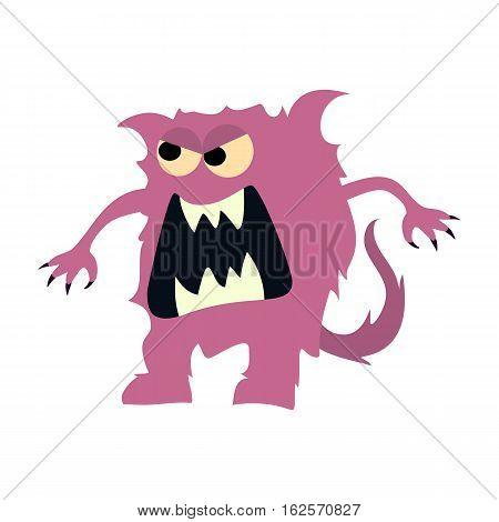 Cartoon flat monsters big icon. Colorful kid toy cute monster. Vector EPS10