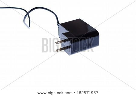 Charger for tablet on a white background