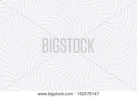 Guilloche background. Monochrome guilloche texture with waves. Original money pattern. For certificate voucher banknote money design currency note check ticket reward etc