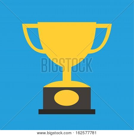 Cup trophy champion icon gold vector stock