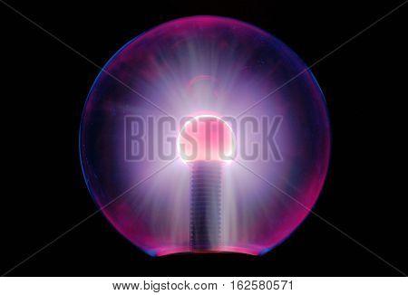 Tesla energy ball turned on light over long exposure