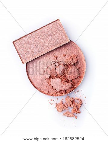 Blush Or Face Powder And Pink Eyeshadow