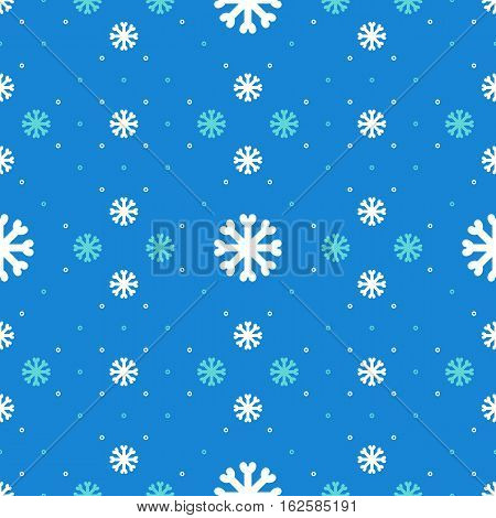 Winter seamless pattern, Snowflakes background, Christmas ornament. Textile pattern sportswear, Trendy hipster minimal design. Line Art Christmas holiday blue pattern. Vector Illustration