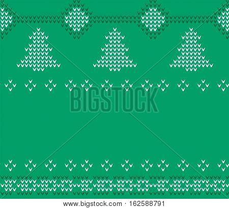 Knitted Christmas Sweater pattern, Green knitwear, winter, xmas
