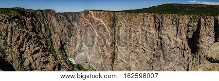 Painted Wall In Black Canyon Panorama