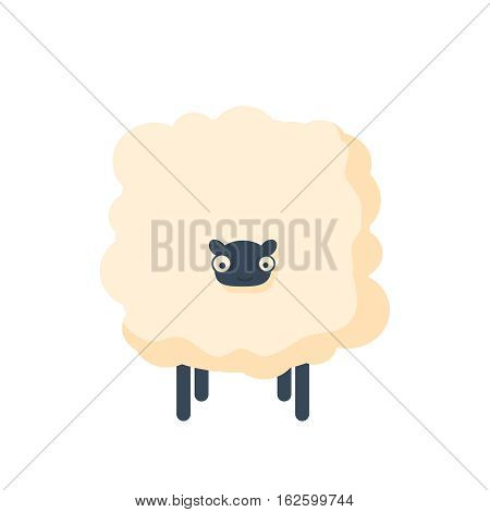 happy merry christmas manger character vector funny illustration on white background