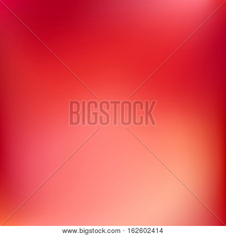 Abstract gradient blur background with red, orange, pink, magenta, yellow and maroon colors for deign concepts, wallpapers, web, presentations and prints. Vector illustration.