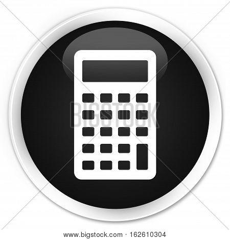 Calculator Icon Premium Black Round Button