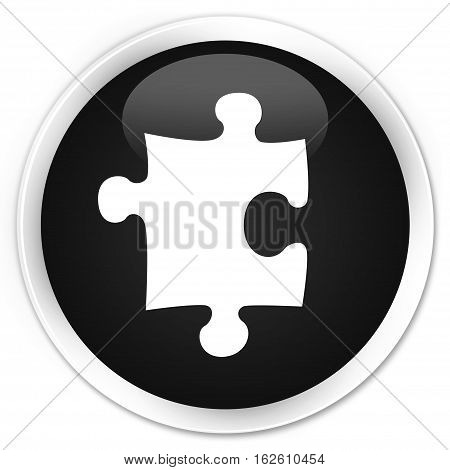 Puzzle Icon Premium Black Round Button