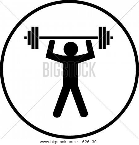 gym weight lifting symbol