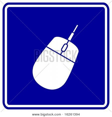 computer mouse sign