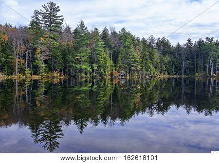 Autumn Adirondack Lake Water Reflections No. 2