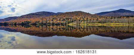 Autumn Adirondack Lake Water Reflections No. 17