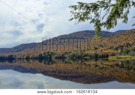 Autumn Adirondack Lake Water Reflections No. 12