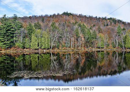 Autumn Adirondack Lake Water Reflections No. 14