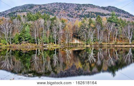 Autumn Adirondack Lake Water Reflections No. 36