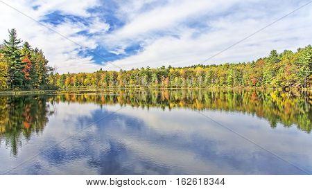 Autumn Adirondack Lake Water Reflections No. 22