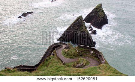 Dunquin Pier, County Kerry, Seascape, Ireland, Dún Chaoin