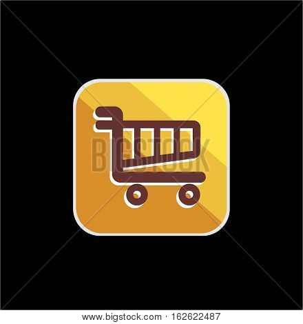 golden cart shop icon 2 with vector and illustration graphic for your icons, sign, symbol, logo, and background