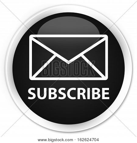 Subscribe (email Icon) Premium Black Round Button