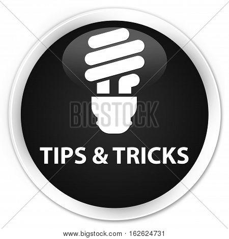Tips And Tricks (bulb Icon) Premium Black Round Button