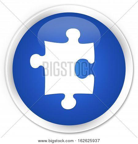 Puzzle Icon Premium Blue Round Button