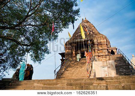 KHAJURAHO INDIA-SEPT 29 : Religious holiday in temple of Khajuraho Sept 29 2013 in Khajuraho India.