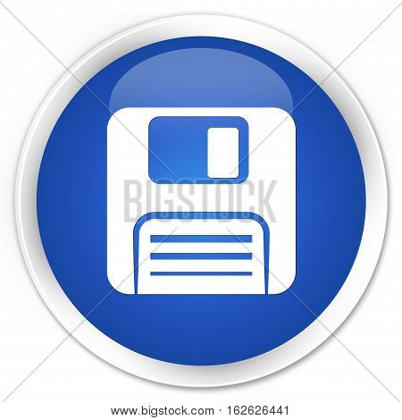 Floppy Disk Icon Premium Blue Round Button