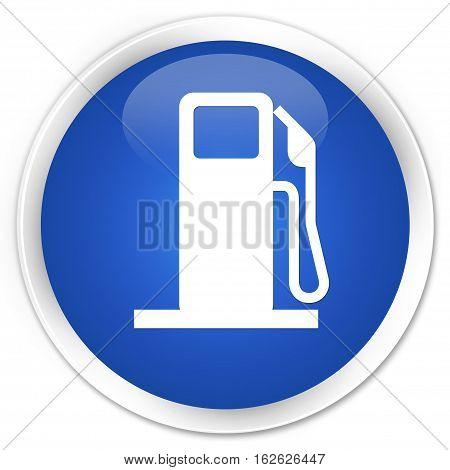 Fuel Dispenser Icon Premium Blue Round Button
