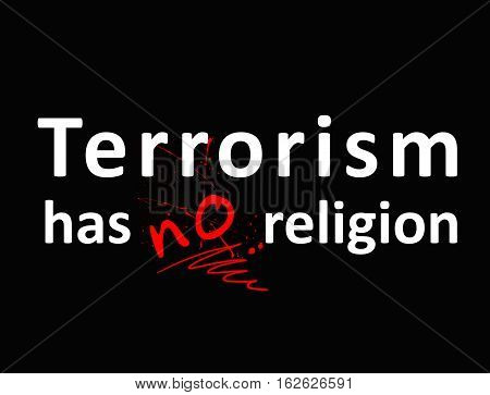 A protest against terrorism the extremist organizations