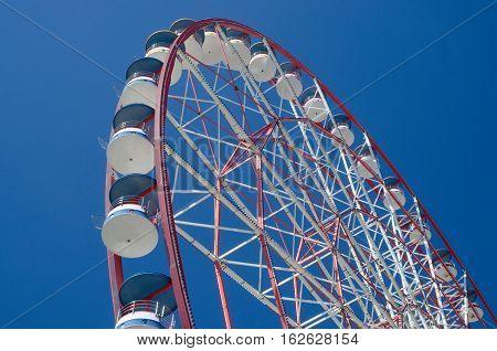 Closeup of ferris wheel in amusement park,Batumi seafront ,Georgia,Adjara