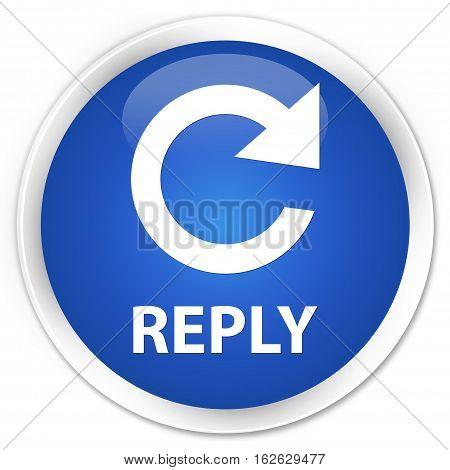 Reply (rotate Arrow Icon) Premium Blue Round Button