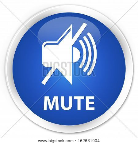 Mute Premium Blue Round Button